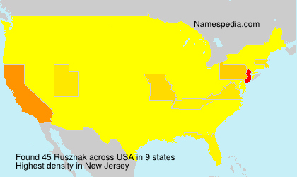 Surname Rusznak in USA