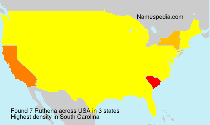 Surname Ruthena in USA