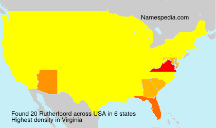 Surname Rutherfoord in USA