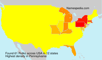 Surname Rutko in USA
