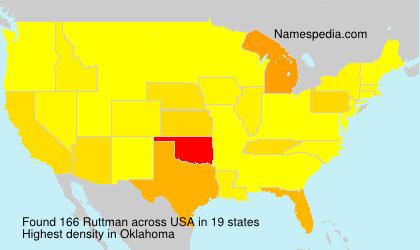 Surname Ruttman in USA