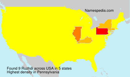 Surname Ruzhdi in USA