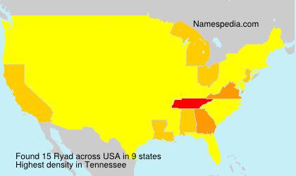 Familiennamen Ryad - USA