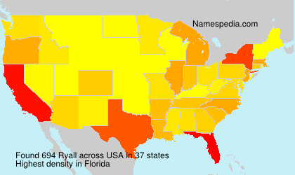 Surname Ryall in USA