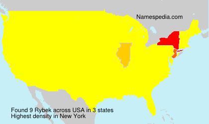 Familiennamen Rybek - USA
