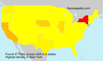 Surname Rybij in USA
