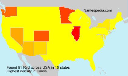 Familiennamen Ryd - USA