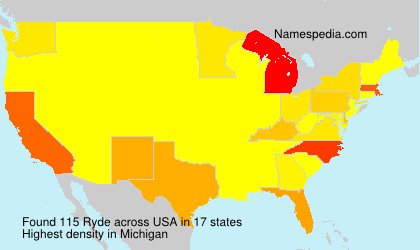 Surname Ryde in USA