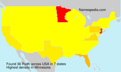 Surname Rydh in USA