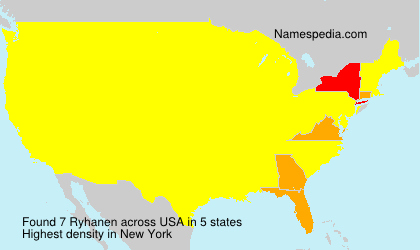 Surname Ryhanen in USA