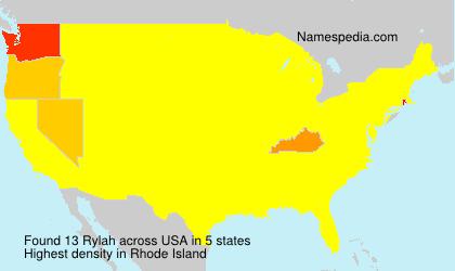 Familiennamen Rylah - USA
