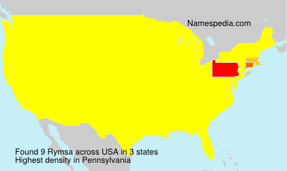 Surname Rymsa in USA