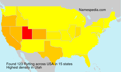 Surname Rytting in USA
