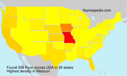 Surname Ryun in USA