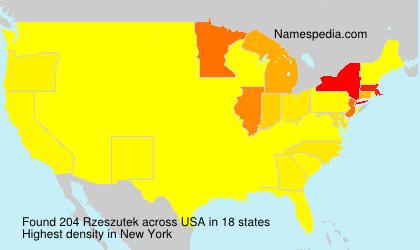 Surname Rzeszutek in USA
