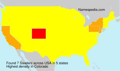 Familiennamen Saadani - USA