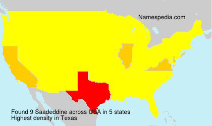 Surname Saadeddine in USA