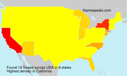 Surname Saaed in USA