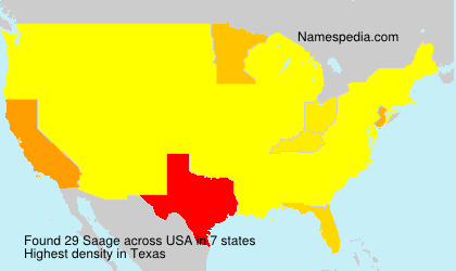 Surname Saage in USA