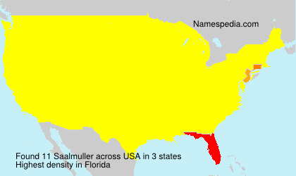 Surname Saalmuller in USA