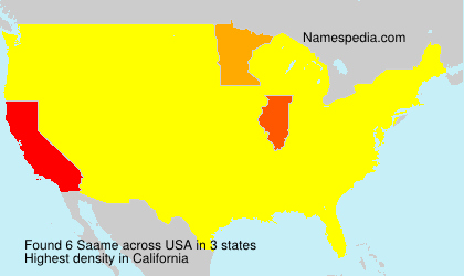 Surname Saame in USA