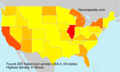 Surname Sabanovic in USA