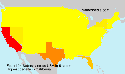 Surname Sabawi in USA