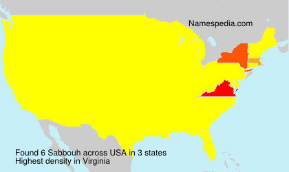 Surname Sabbouh in USA