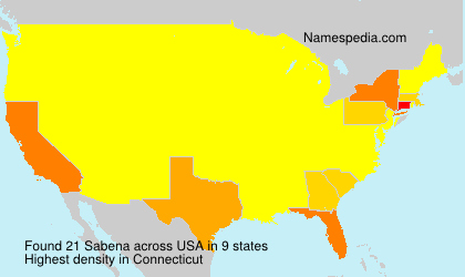 Surname Sabena in USA