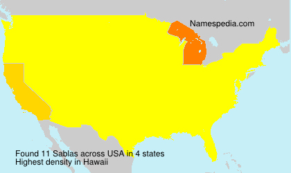 Surname Sablas in USA