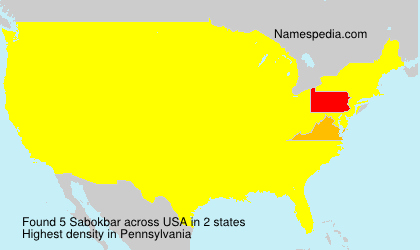 Surname Sabokbar in USA