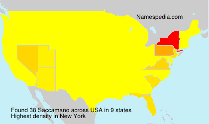 Surname Saccamano in USA