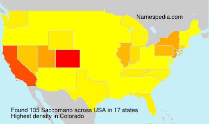 Surname Saccomano in USA
