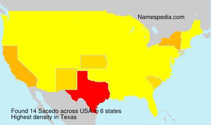 Surname Sacedo in USA