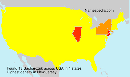 Surname Sacharczuk in USA