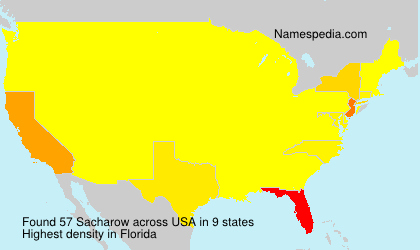 Surname Sacharow in USA