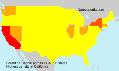 Surname Sachie in USA