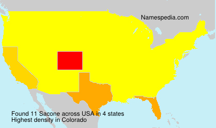 Surname Sacone in USA