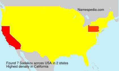 Surname Sadakov in USA