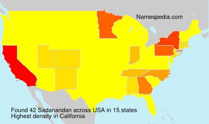 Surname Sadanandan in USA