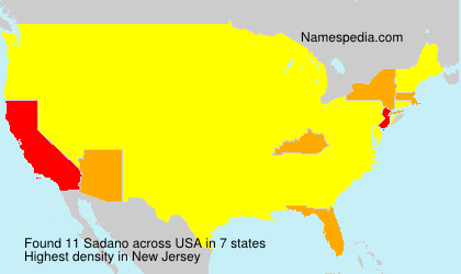 Surname Sadano in USA
