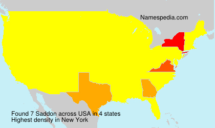 Surname Saddon in USA