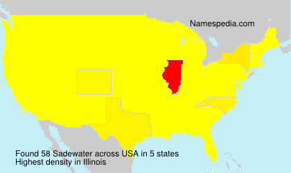 Surname Sadewater in USA