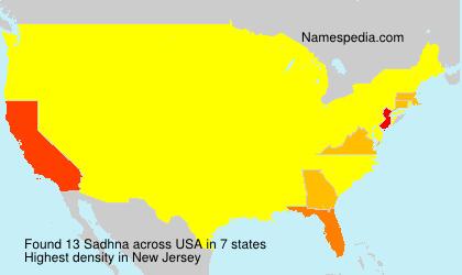 Surname Sadhna in USA