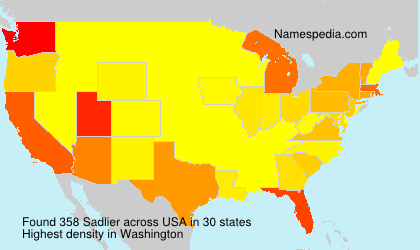 Surname Sadlier in USA