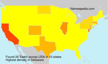 Surname Sadot in USA