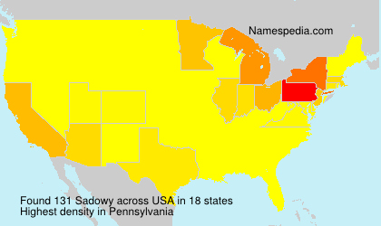 Surname Sadowy in USA