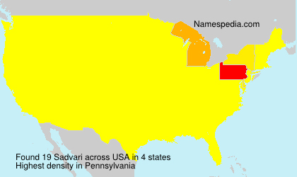 Surname Sadvari in USA
