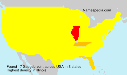 Surname Saegebrecht in USA