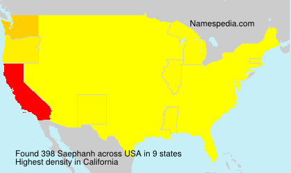 Surname Saephanh in USA